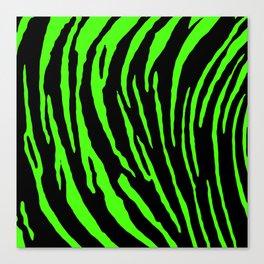 Green Tiger Stripes Canvas Print