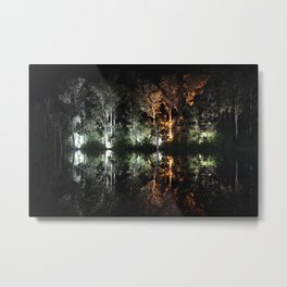 Artificial Reflection Metal Print