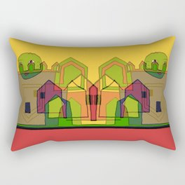 Two Suns Above the Village Rectangular Pillow