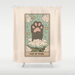 Ace of Paws Shower Curtain