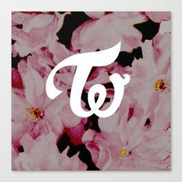 twice floral Canvas Print