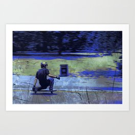 Just Cruisin'  - Skateboarder Art Print