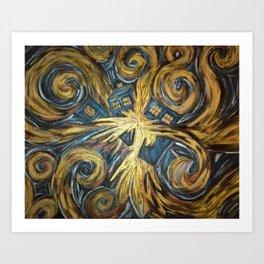 Exploding TARDIS Art Print