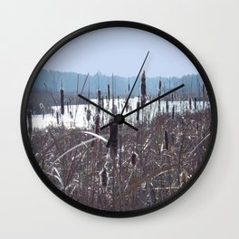 Cattails Wall Clock