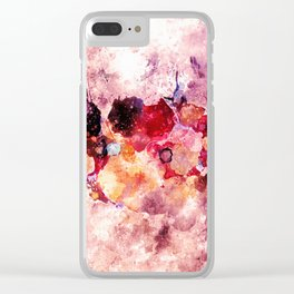 Colorful Minimalist Art / Abstract Painting Clear iPhone Case