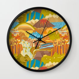 Rock Formations Wall Clock