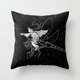 The flying thief of stars Throw Pillow