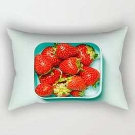 Strawberry in a box Rectangular Pillow