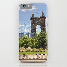 Cincinnati's John A. Roebling Bridge iPhone Case