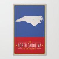 north carolina Canvas Prints featuring NORTH CAROLINA by Matthew Justin Rupp