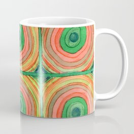 Grid with Psychedelic Rings Coffee Mug
