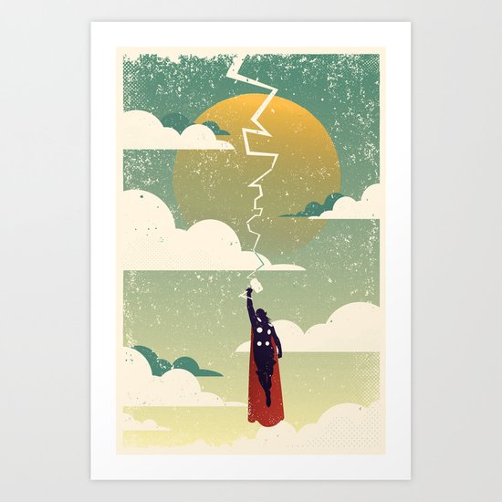 SON OF THE ODIN Art Print