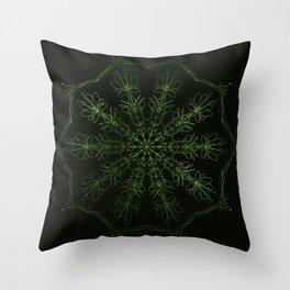 green sun Throw Pillow