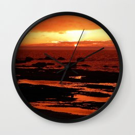 Sunset behind the Circle of Rocks Wall Clock