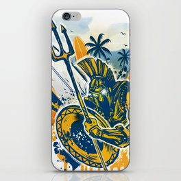 poseidon surfer aggression iPhone Skin