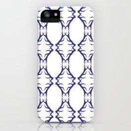 Modern Antler:  Blue iPhone Case