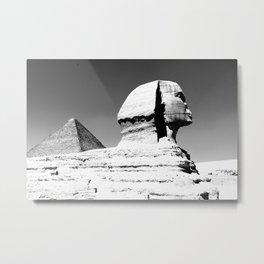 Sphinx and Pyramid Metal Print
