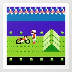 Punctured Bike Art Print