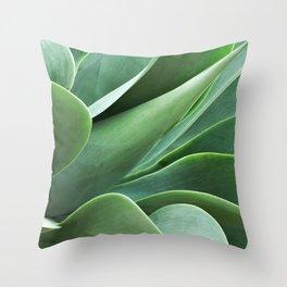 Succulent Shadows Photograph Throw Pillow