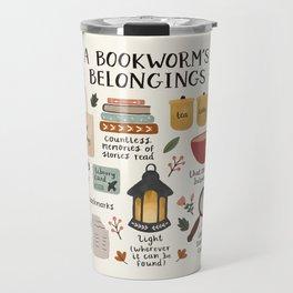 A Bookworm's Belongings Travel Mug