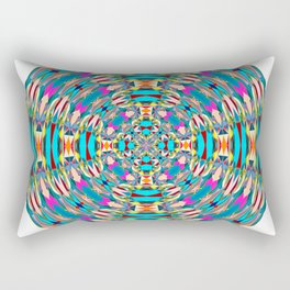 321 - Abstract Colourful Orb design Rectangular Pillow