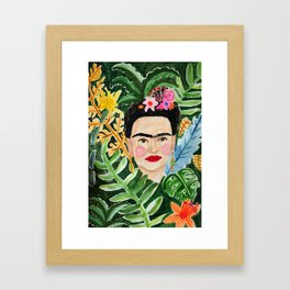 Jungle Frida Framed Art Print