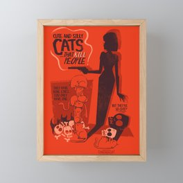 Cat Movie - orange Framed Mini Art Print