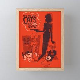 Cat Movie - orange Framed Mini Art Print