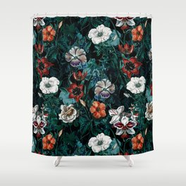 NIGHT FOREST XXI Shower Curtain