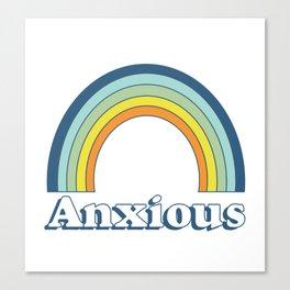 Anxiety Rainbow Canvas Print