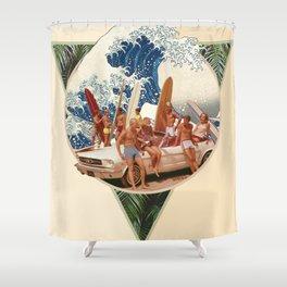 Surf Beat Shower Curtain