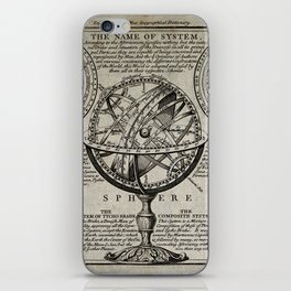 An armillary sphere, with other diagrams of the heavens (RW Seale, 18th century) iPhone Skin