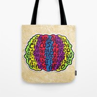 afro Tote Bags featuring Circus Afro! Circus Afro!  by Brieana