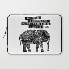 Blessing Buddha Quote Laptop Sleeve