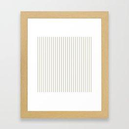 Silver Moss Pinstripe on White Framed Art Print