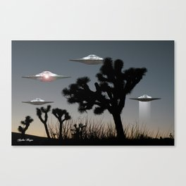 Joshua Tree Space Invasion by C.Reyes Canvas Print