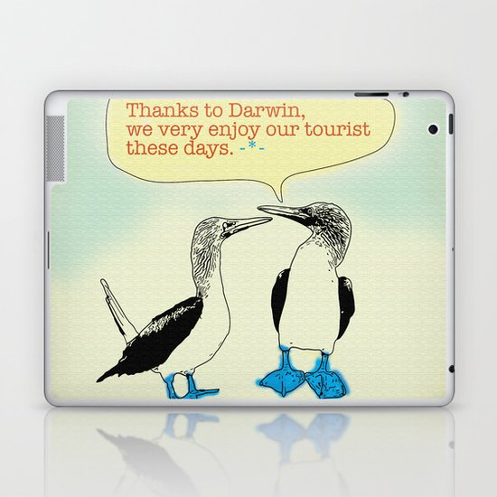 Leave Galapagos alone,pls. Laptop & iPad Skin
