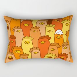 Pile of Clucks Rectangular Pillow
