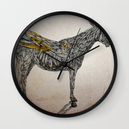 Feather Horse  Wall Clock