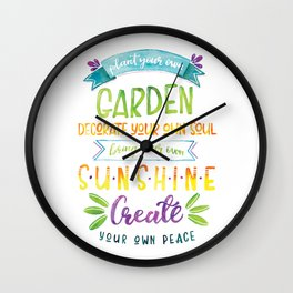 Plant your own garden Wall Clock