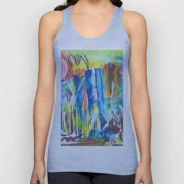 Abstract landscape expressionist Unisex Tank Top