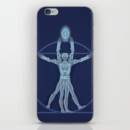 Vitruvian Tron iPhone Skin