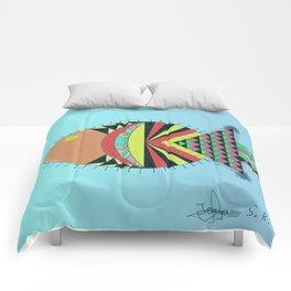 the tamborin fish or puffer fish Comforters