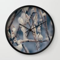 wisconsin Wall Clocks featuring Wisconsin Winter by Dave Hoefler
