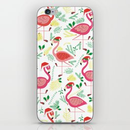 FLAMINGO CHRISTMAS iPhone Skin
