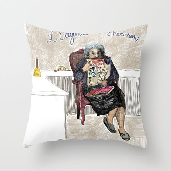 L'élégance du hérisson (Muriel Barbery)- COVERS OF BOOKS THAT NOBODY ASKED ME TO ILLUSTRATE N.1 Throw Pillow