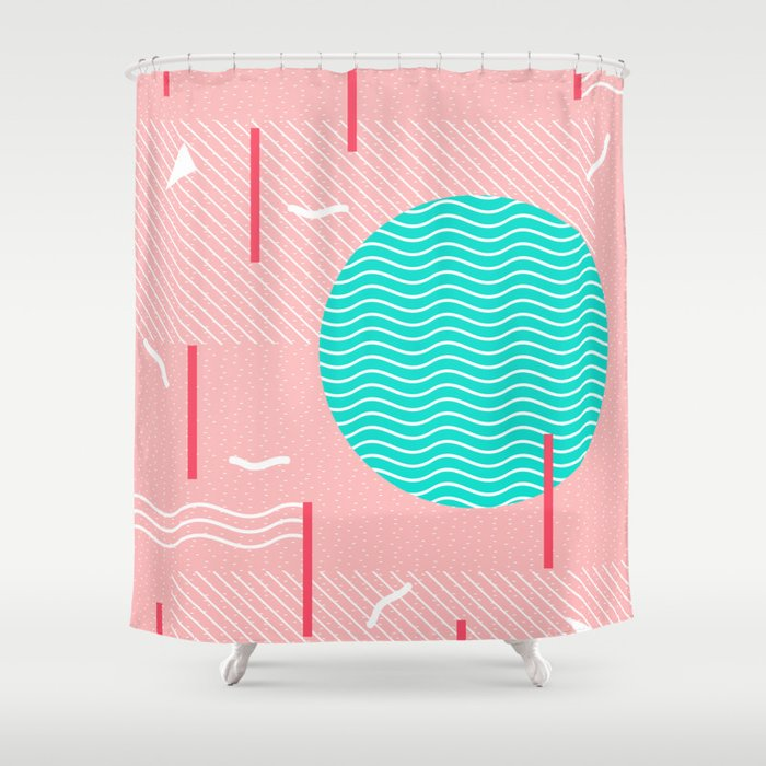 Memphis Summer Splash Shower Curtain
