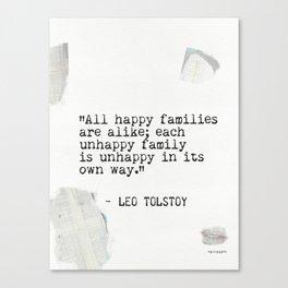 Leo Tolstoy quote 5 Canvas Print