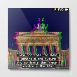 Who is in control? Metal Print