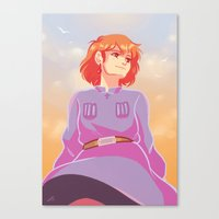 nausicaa Canvas Prints featuring Valley Princess by AndytheLemon